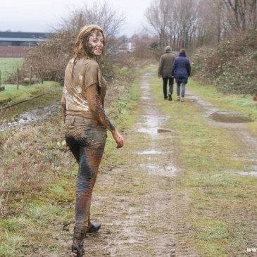 a very muddy walk at the brickworks