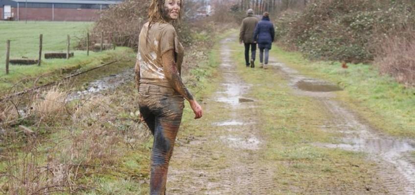 a very muddy walk at the brickworks