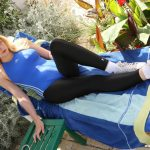 V089 Holiday in Cyprus part 3 – leggings and swimsuit
