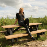 W200 Eileen in leather leggings and heels in friesland