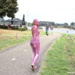 W208 Eileen walking the streets all gunged