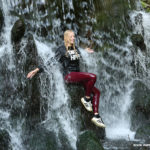 W259 Eileen at the waterfalls in her new red leggings