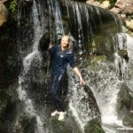 W266 Eileen at the waterfall full jeans outfit