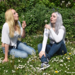 W278 Eileen and Queenofhell in white transparent tops and jeans